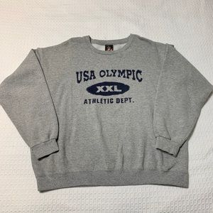 Vintage USA Olympic Crewneck Sweatshirt Gray XL